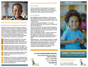 Childhood Disabilities Louis St Association Outreach Learning - Early